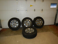 2013 Ford F150 Nokian studded tires on rims