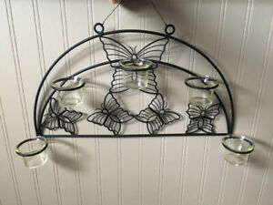 PATIO METAL BUTTERFLY CANDLE HOLDER