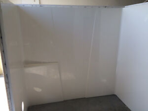 Bathtub with surround plus glass door and kitchen for $200.