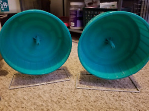 2 small animal exercise wheels