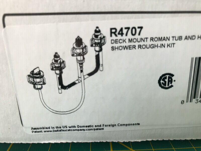 Delta 4-hole bathtub rough-in valve.