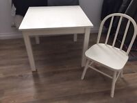 Little White Company Table and 2 chairs