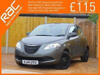 2014 Chrysler Ypsilon 1.2 Silver 5 Door 5 Speed Bluetooth Air Conditioning Only