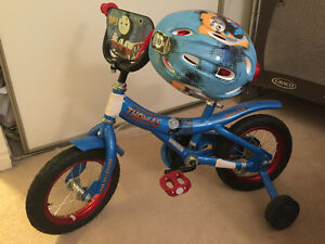 Thomas the train training bike and helmet