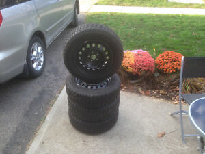 P195/65R15 Goodyear Snow Tires And Rims