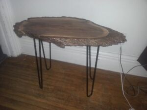 Live Edge Accent Tables With Custom Hairpin Legs