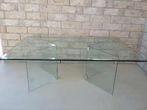 Large beveled glass top with glass base coffee table for sale London Ontario image 3