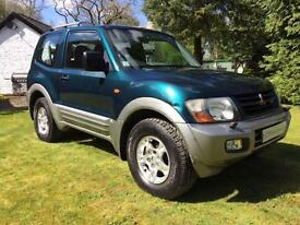 Mitsubishi Shogun 3.2TD DID 2001MY GLS swb manual great spec low mileage