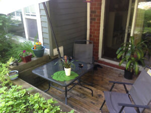 Outdoor/ Indoor dining table and 4 chairs