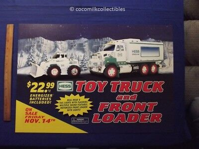 2008 Hess Toy Truck Loader Sign Advertising For front Gas Pump Motorcycle Gas St