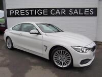 2015 BMW 4 Series 2.0 420d Luxury Auto 2dr Diesel white Automatic