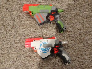 Pair of Nerf Vortex Disk Shooters