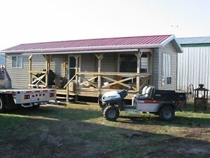 CABIN SKIDDED CUSTOM BUILT (TO BE MOVED) GREAT LAKE OR FARM HOME