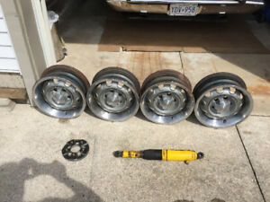 Mopar Rallye Wheels,  Wheel Adaptors, Air Shocks