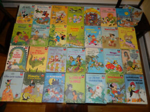 80 French vintage Disney books for children.