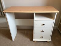 Small wooden desk - hand painted