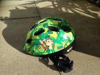 Toddlers first helmet