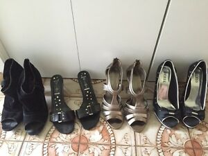 Lot of four pairs of shoes ladies size 9