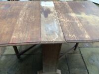 Oak drop leaf gate leg table project piece
