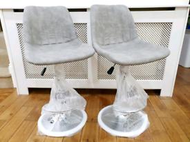 2 x Brandnew Breakfast kitchen bar stools- Grey