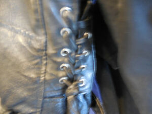 Old school black leather jacket @recycledgear.ca Kawartha Lakes Peterborough Area image 6