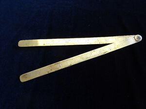 Antique Brass Ruler - Circa 1900 - England