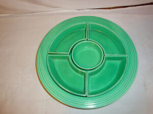 FIESTA WARE FIESTA RELISH TRAY 1936 TO 1946