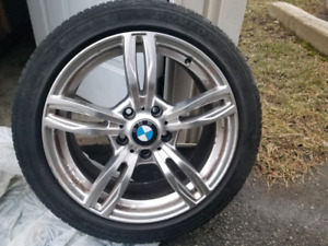 BMW mags with summer tires 225/45/17  3 series