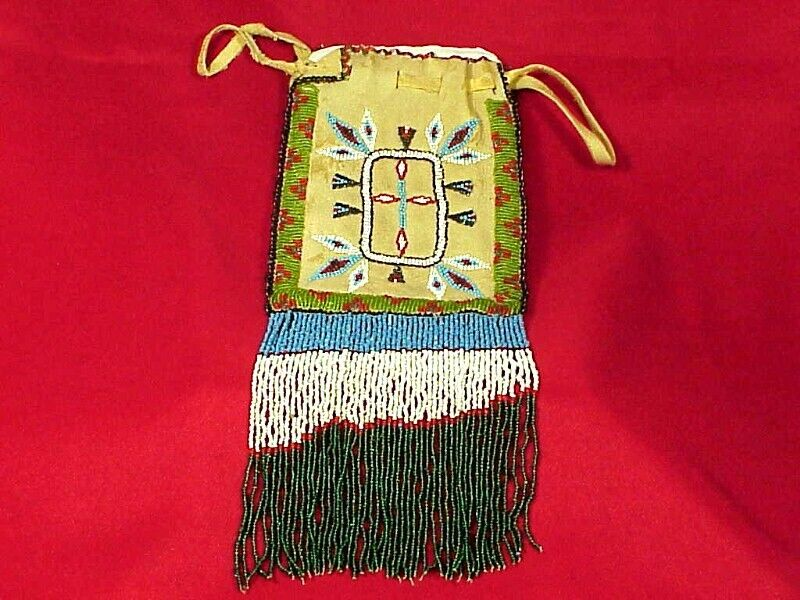 Antique APACHE BEADED BAG