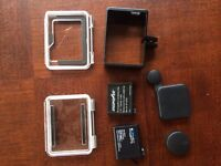 Gopro hero 4 silver and black accessories