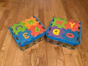 2 sets of foam letter and number tiles