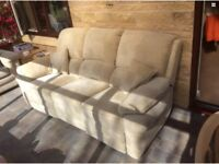 Three seater double recliner sofa