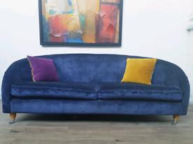 Laura Ashley 2 seater sofa in Midnight blue villadry velvet RRP £1600