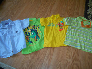 You get 4 Boys shirts size 5 for $4.00