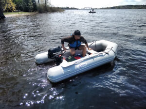 Dinghy DURAS 4 person inflatable with 4hrs mercury used 2x/yr!