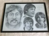 Pencil Drawing of the Beatles