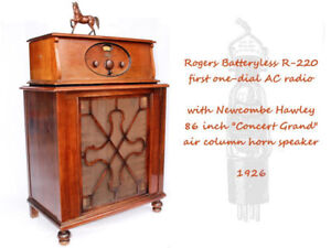 1926 Rogers Batteryless First AC-Powered Single Dial Radio
