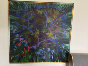 Extrodinary Large Abstract Painting by Known Artist Peter Bell
