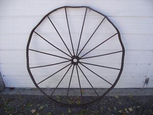 Antique Steel Farm Machinery Wheel Kingston Kingston Area image 1