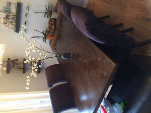 Wood Dining room table and 4 chairs