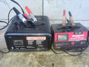 2 car battery chargers