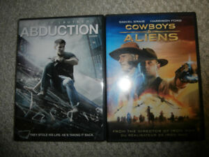Abduction and Cowboys & Aliens DVD Movies
