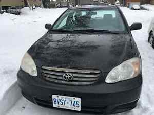 2003 Toyota Corolla Sedan - Ready to Go for Winter!