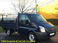 2013 63 Ford Transit 100 T300s Dropside / Pickup +Tailift Alloy body SRW