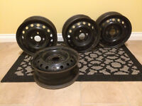 Set of four steel rims. 4 x 114.3  bolt pattern