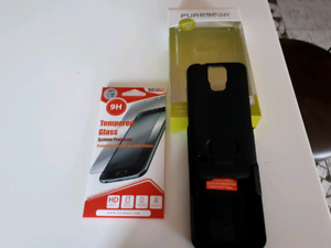 Étui cellulaire Samsung Galaxy S5 et Verre protecteur