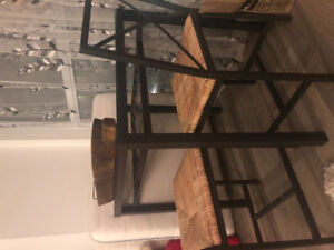 Glass Dining table with chairs for sale