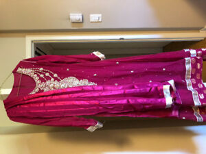 Indian Pakistani wedding party wear salwar suit Anarkali.