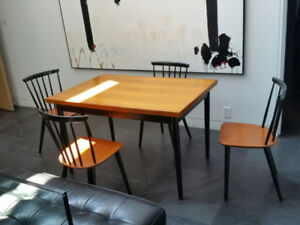 Danish Teak Vintage Authentic Fartrup Dining Table and Chairs