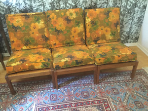 3 Seat Filipino Mahoney wood couch or 3 one seat chairs